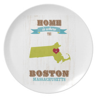 boston, massachusetts Map – Home Is Where Plate