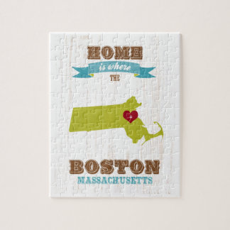 boston massachusetts Map – Home Is Where Jigsaw Puzzles