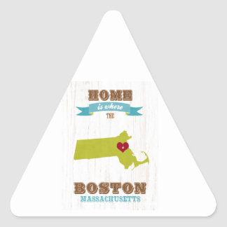 boston, massachusetts Map – Home Is Where Triangle Sticker