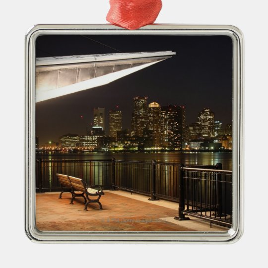 Boston, Massachusetts Metal Ornament