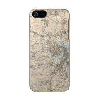Boston, Massachusetts Metallic Phone Case For iPhone SE/5/5s
