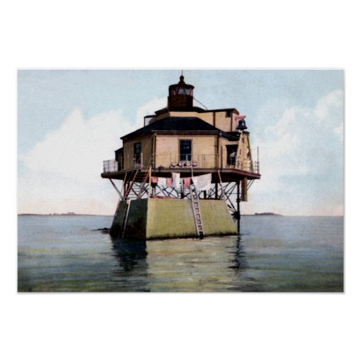 Boston Massachusetts Narrows Bug Lighthouse Print