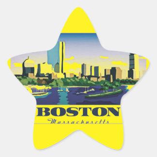 Boston, Massachusetts Pegatina En Forma De Estrella