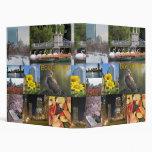 Boston, Massachusetts Photo Collage 3 Ring Binder