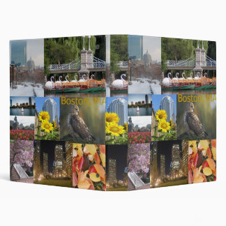 Boston, Massachusetts Photo Collage 3 Ring Binder