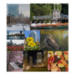 Boston, Massachusetts Photo Collage Poster
