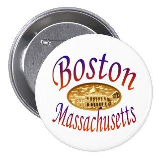 Boston Massachusetts Pinback Button
