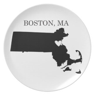 Boston Massachusetts Party Plates