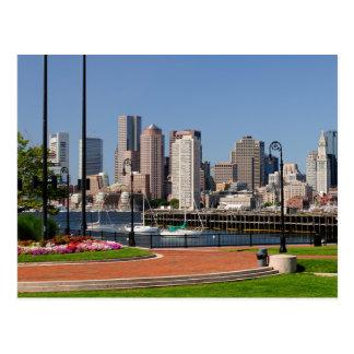 Boston Massachusetts, puerto y postal del horizont
