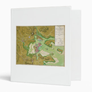 Boston Massachusetts Revolutionary War Map 3 Ring Binder