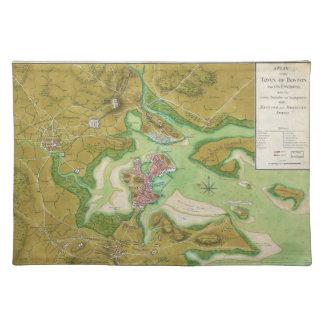 Boston Massachusetts Revolutionary War Map Cloth Place Mat