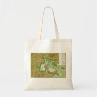 Boston Massachusetts Revolutionary War Map Tote Bag