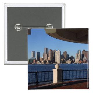 Boston, Massachusetts skyline 2 2 Inch Square Button