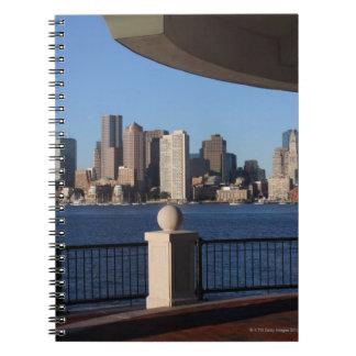 Boston, Massachusetts skyline 2 Spiral Notebook