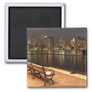 Boston, Massachusetts skyline 3 2 Inch Square Magnet