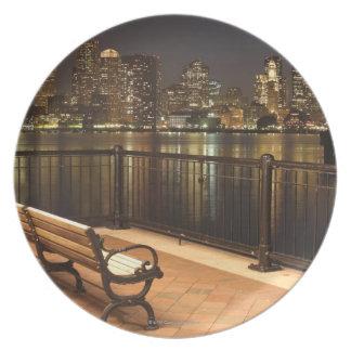 Boston, Massachusetts skyline 3 Dinner Plate