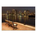Boston, Massachusetts skyline 3 Greeting Card