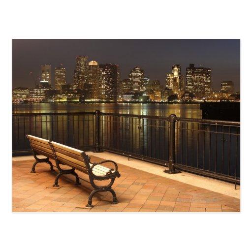 Boston, Massachusetts skyline 3 Post Cards