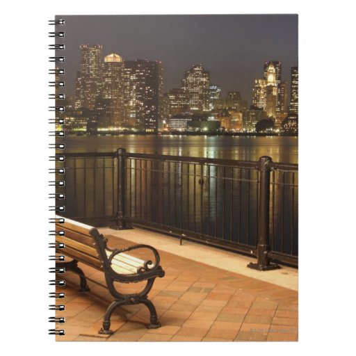 Boston, Massachusetts skyline 3 Spiral Notebook