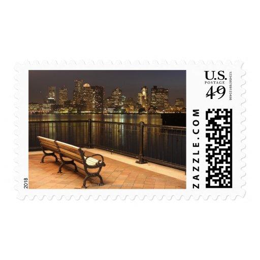 Boston, Massachusetts skyline 3 Stamp