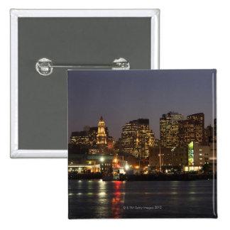 Boston, Massachusetts skyline 4 2 Inch Square Button