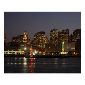 Boston, Massachusetts skyline 4 Posters