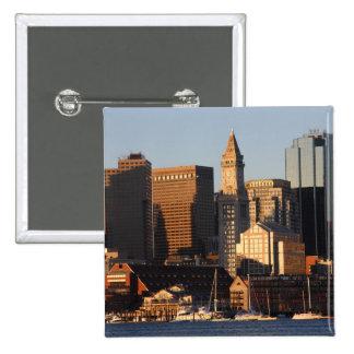 Boston, Massachusetts skyline 5 2 Inch Square Button