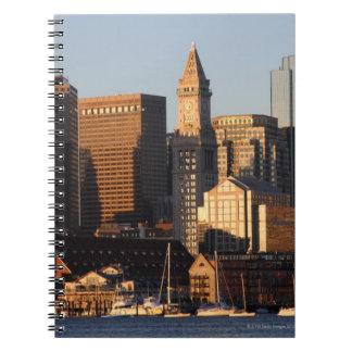 Boston, Massachusetts skyline 5 Spiral Notebook
