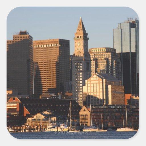 Boston, Massachusetts skyline 5 Square Sticker