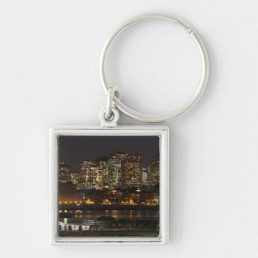 Boston, Massachusetts skyline 6 Key Chains