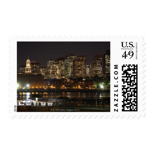 Boston, Massachusetts skyline 6 Postage Stamp