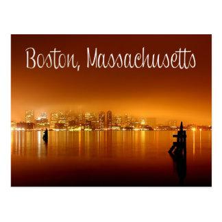 Boston, Massachusetts, Skyline At Night Post Card