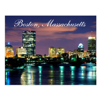 Boston Massachusetts Skyline at Sunset  Postcard