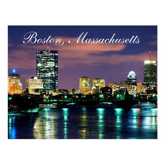 Boston Massachusetts Skyline at Sunset  Postcard