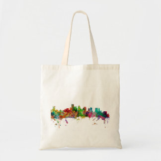 Boston Massachusetts Skyline Canvas Bags