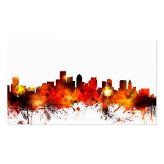 Boston Massachusetts Skyline Business Card