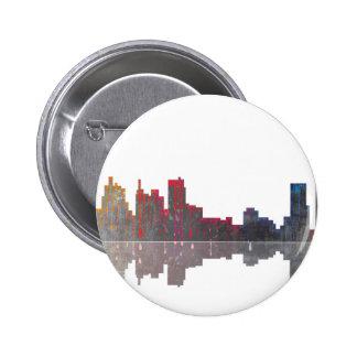 Boston Massachusetts Skyline 2 Inch Round Button
