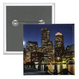 Boston, Massachusetts skyline 2 Inch Square Button
