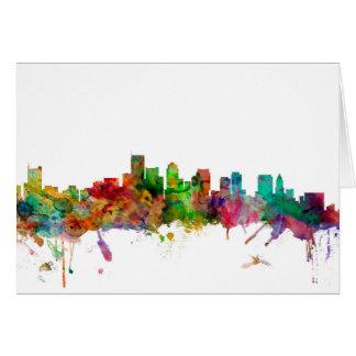 Boston Massachusetts Skyline Card