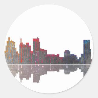Boston Massachusetts Skyline Classic Round Sticker