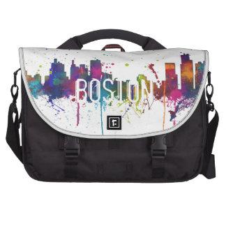 BOSTON MASSACHUSETTS SKYLINE - Commuter Laptop Bag