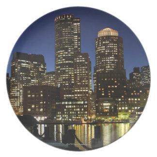 Boston, Massachusetts skyline Dinner Plate