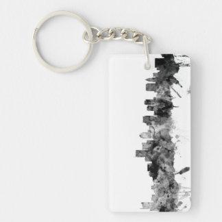 Boston Massachusetts Skyline Keychain