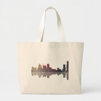 Boston Massachusetts Skyline Large Tote Bag