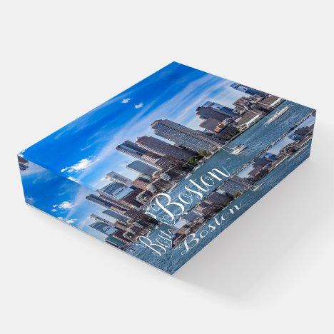 Boston Massachusetts Skyline PaperweightWaterfront Paperweight