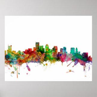 Boston Massachusetts Skyline Print