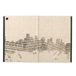 Boston Massachusetts Skyline Sheet Music Cityscape iPad Air Case
