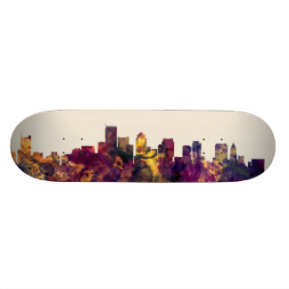 Boston Massachusetts Skyline Skateboard