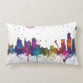 BOSTON MASSACHUSETTS SKYLINE - Throw Pillow