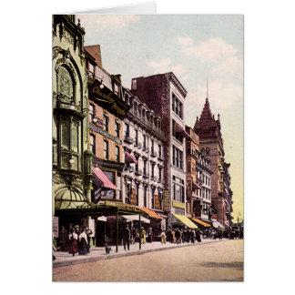 Boston Massachusetts Tremont Street Greeting Card